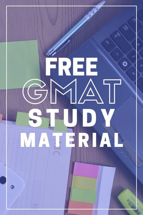 GMAT hacks and free study material